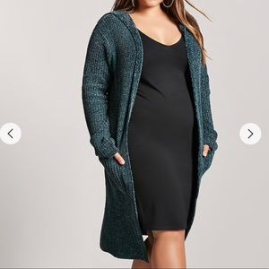 Longline Hooded Chenille Cardigan